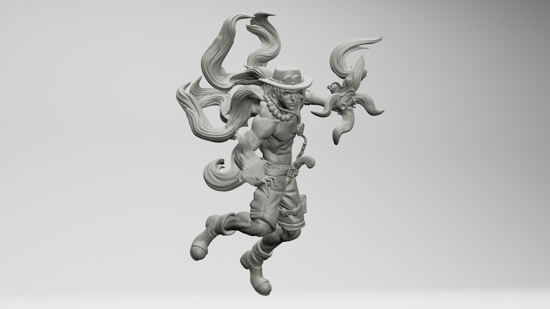 12.jpg Download STL file Portgas D. Ace - One Piece 3D printable • 3D print model, ronnie_yonk