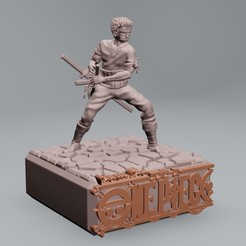 1.jpg Download STL file Roronoa Zoro one piece - 3D printable • Object to 3D print, ronnie_yonk