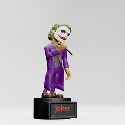 1.jpg Download free STL file  joker, heath ledger  - 3D PRINTING • Object to 3D print, ronnie_yonk