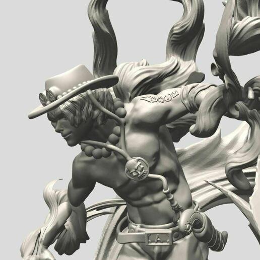 5.JPG Download STL file Portgas D. Ace - One Piece 3D printable • 3D print model, ronnie_yonk