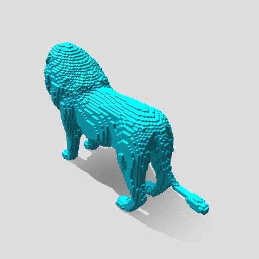 Capture 3.JPG Download free STL file Lion Stl  • 3D printable template, ronnie_yonk