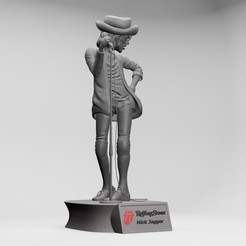 Download 3D printing designs Mick Jagger , 3d printable Obj and stl file, ronnie_yonk