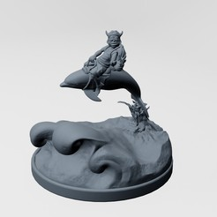 Download STL file bad boy and dolphin - 3d printable • 3D printer template, ronnie_yonk