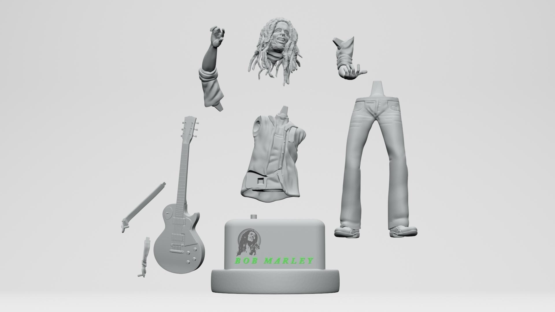 17.jpg Descargar archivo STL Bob Marley - Imprimible en 3D • Objeto imprimible en 3D, ronnie_yonk