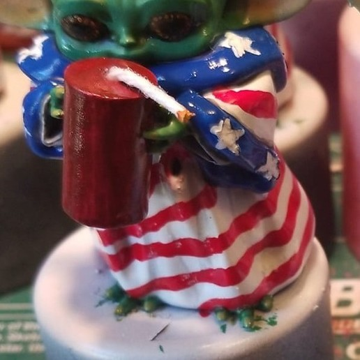 Download 3D printing designs Baby Yoda-  4th of July, Smugglersblind