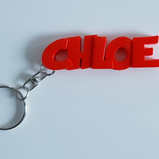 Download 3D-printmodellen Sleutelhanger CHLOE, mapiece3d