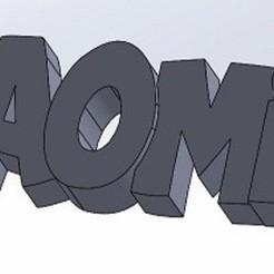 PORTE CLE NAOMIE.JPG Télécharger fichier STL Porte-clés NAOMIE • Objet imprimable en 3D, mapiece3d