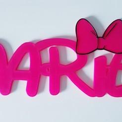 Prenom Marie disney.jpg Download STL file First name Marie Disney • 3D printing design, mapiece3d