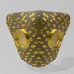 Impresiones 3D Máscara de Louis Vuitton, miloo59