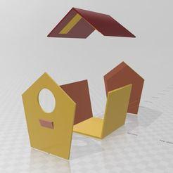 Télécharger fichier STL gratuit Maison pour mésange deux parties sans support • Design pour impression 3D, miloo59