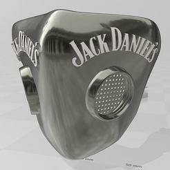 Télécharger fichier 3D Masque filtre Jack Daniel's, miloo59