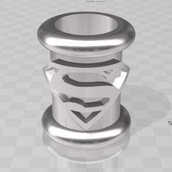 SUPERMAN1.JPG Télécharger fichier STL Beard pearl , perle de barbe Superman • Design imprimable en 3D, miloo59