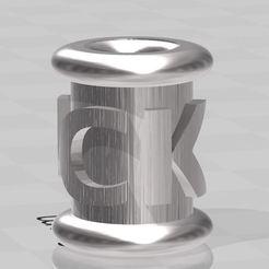 FUCK2.JPG Télécharger fichier STL Beard pearl , perle de barbe F..K • Plan pour impression 3D, miloo59