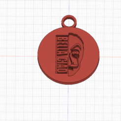 casa di carta CIONDOLO.png Download STL file CASA DI CARTA-PORTACHIAVI • Object to 3D print, sabri7_