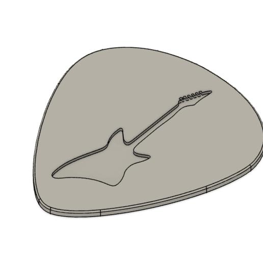 Download free STL file GUITAR PICK / PLETTRO / MEDIATORE • Design to 3D print, sabri7_