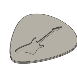 Download free STL files GUITAR PICK / PLETTRO / MEDIATORE, sabri7_