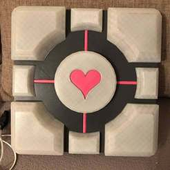 67874443_10216357424021622_6303503391855214592_o.jpg Download free STL file Companion Cube Lamp • 3D printable template, Sofedar