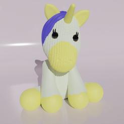 UnicornioBebe3.png Télécharger fichier STL Bébé licorne - Bébé licorne • Objet pour imprimante 3D, angelriv88