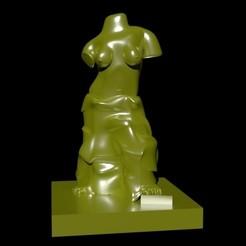 escultuAAAAAA.jpg Download STL file MODEL,VENUS,WOMAN,SCULPTURE,3D,FIGURE • 3D printer object, janobanano