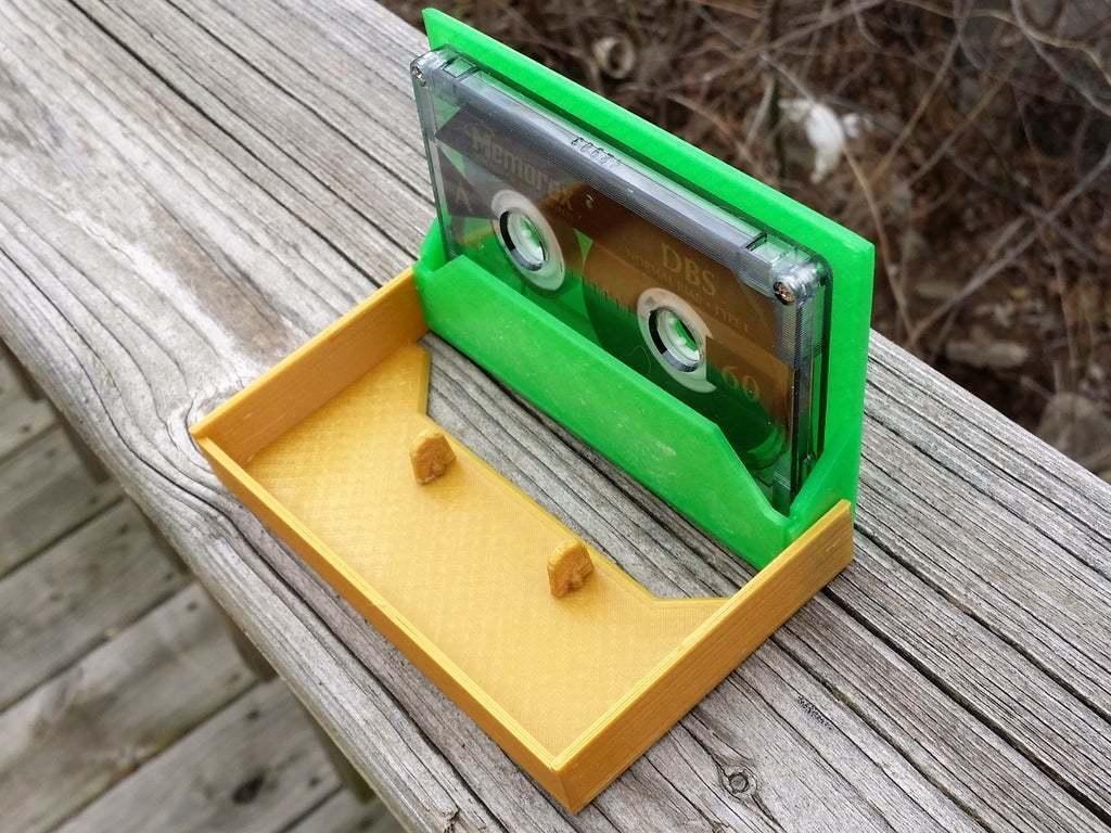 20150122_123111.jpg Download free STL file Cassette Tape Case / Holder • 3D printable model, tonyyoungblood