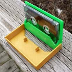 Download free STL files Cassette Tape Case / Holder, tonyyoungblood