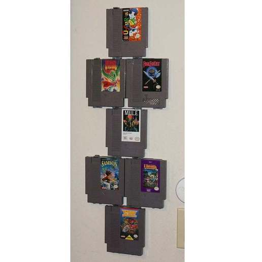 DSC03984.JPG Download free STL file Modular NES Game Wall Hangers (Nintendo Entertainment System) UPDATED 2015-08-21 • 3D print object, tonyyoungblood