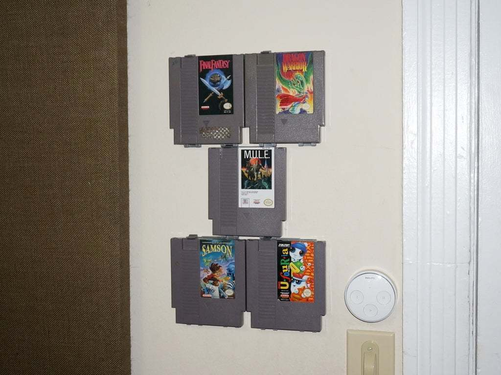DSC03973.JPG Download free STL file Modular NES Game Wall Hangers (Nintendo Entertainment System) UPDATED 2015-08-21 • 3D print object, tonyyoungblood