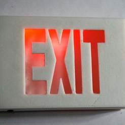 Download free STL file Tiny Exit Sign with LED Light • 3D printing template, tonyyoungblood