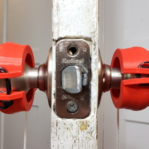 20200609_210850.jpg Download free STL file Round Door Knob to Lever / Handle Converter • 3D printer design, tonyyoungblood