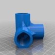 4WayElbow.png Download free STL file 4-Way Elbow, 1/2 Inch PVC Pipe Fitting Series #HalfInchPVCFittings UPDATE 2015-07-03 • Template to 3D print, tonyyoungblood
