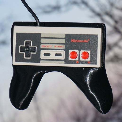DSC04540.JPG Download free STL file NES Controller Grip / Handle / Holder - Nintendo Entertainment System Gamepad • Template to 3D print, tonyyoungblood