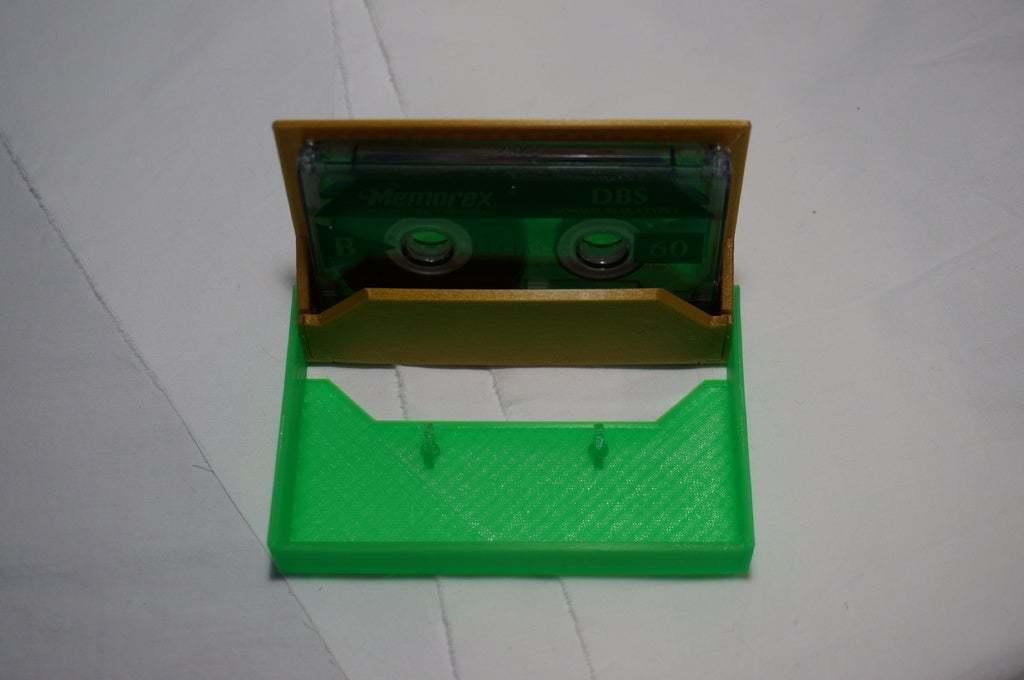 DSC02068.JPG Download free STL file Cassette Tape Case with Customizable Logos / Album Art • 3D printable model, tonyyoungblood