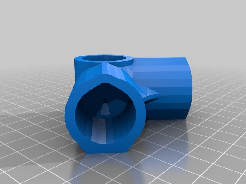3WayElbow.png Download free STL file 3-Way Elbow, 1/2 Inch PVC Pipe Fitting Series #HalfInchPVCFittings - UPDATED 2015-02-02 • 3D printing template, tonyyoungblood