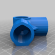 Download free STL file 3-Way Elbow, 1/2 Inch PVC Pipe Fitting Series #HalfInchPVCFittings - UPDATED 2015-02-02 • 3D printing template, tonyyoungblood