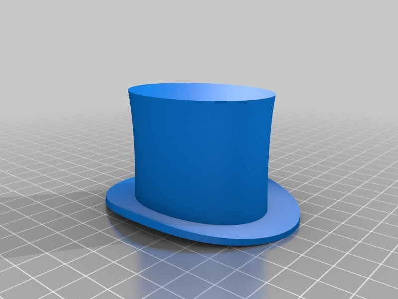 ec33a3bd5f5e24f7b4b9d168d73f0426.png Download free STL file Tiny Top Hat for Dolls and Stuffed Animals -- Center Prints w/o Supports • 3D printer design, tonyyoungblood