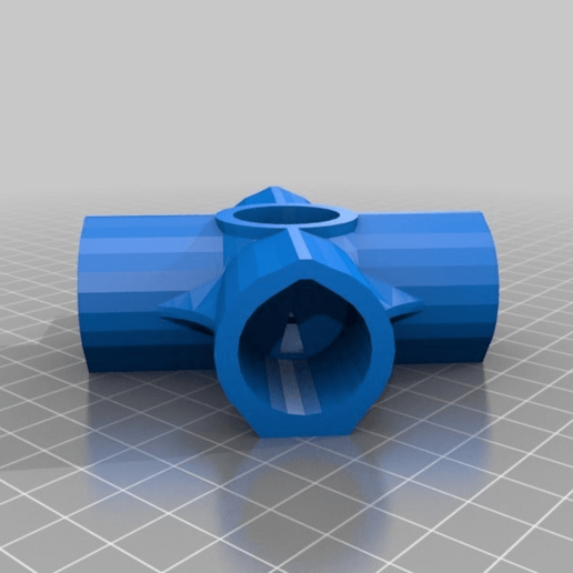 5WayCross.png Download free STL file 5-Way Cross & 6-Way Cross, 1/2 Inch PVC Pipe Fitting Series #HalfInchPVCFittings UPDATE 2015-07-03 • 3D printing template, tonyyoungblood