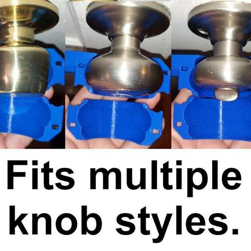 20200520_181059.jpg Download free STL file Round Door Knob to Lever / Handle Converter • 3D printer design, tonyyoungblood