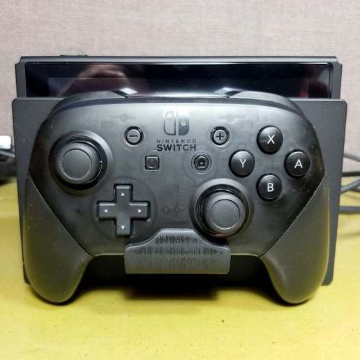 SwitchProMount_05.jpg Download free STL file Nintendo Switch Pro Controller Mount - Mounts on Wall or Switch! • Design to 3D print, tonyyoungblood