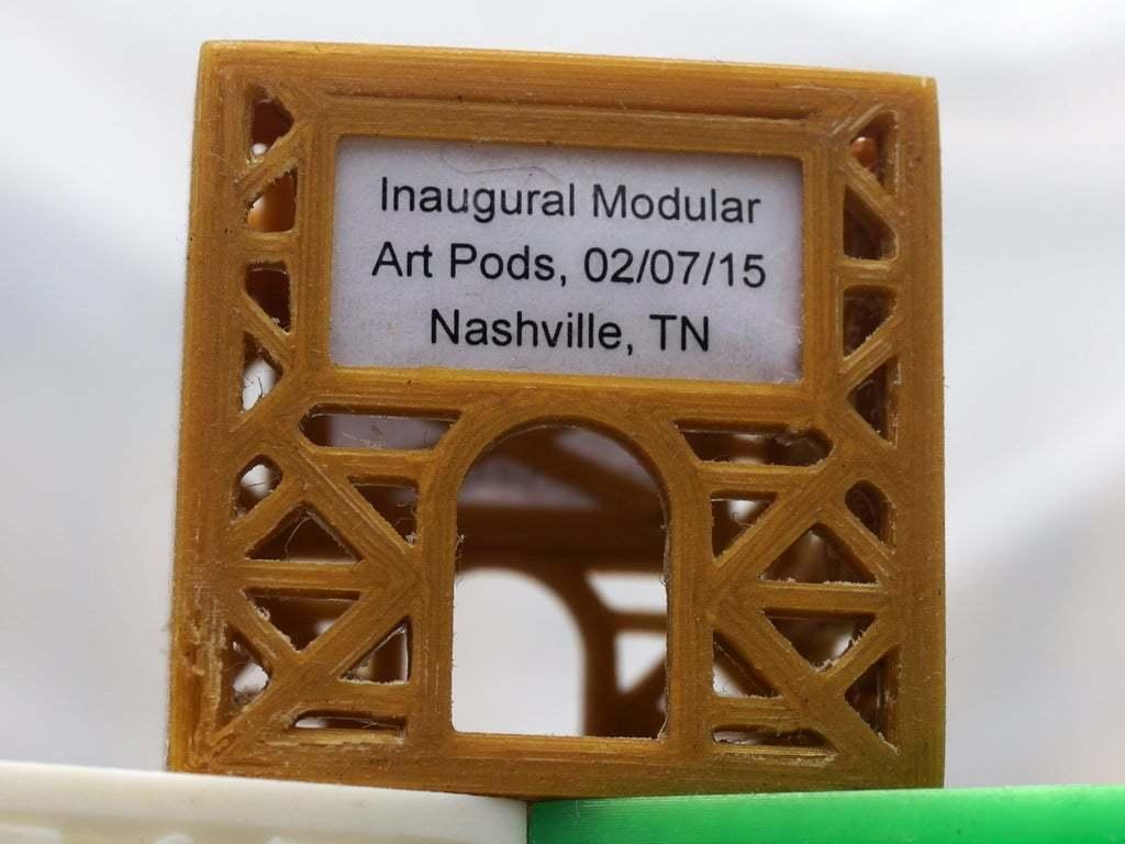 "DSC02428Small.JPG Download free STL file Modular Art Pods ""The Poddys"" Award / Trophy #modularartpods • Design to 3D print, tonyyoungblood"