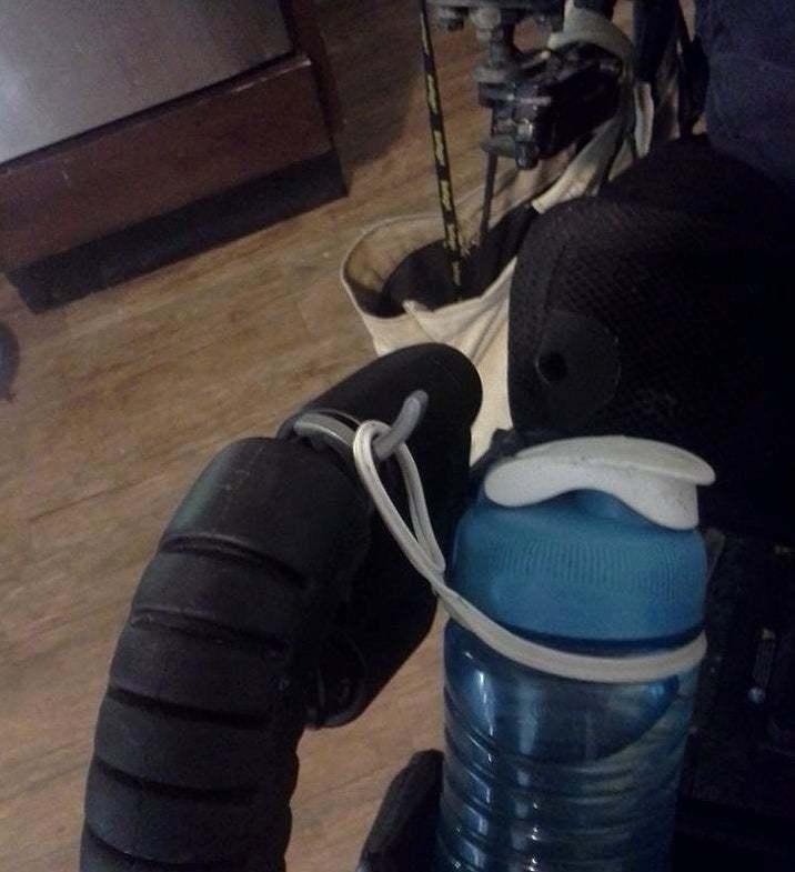 11953031_10205530370232703_598159963540545772_n.jpg Download free STL file Water Bottle Leg Rest Hook for Quantum 6000z Power Wheelchair • 3D print object, tonyyoungblood