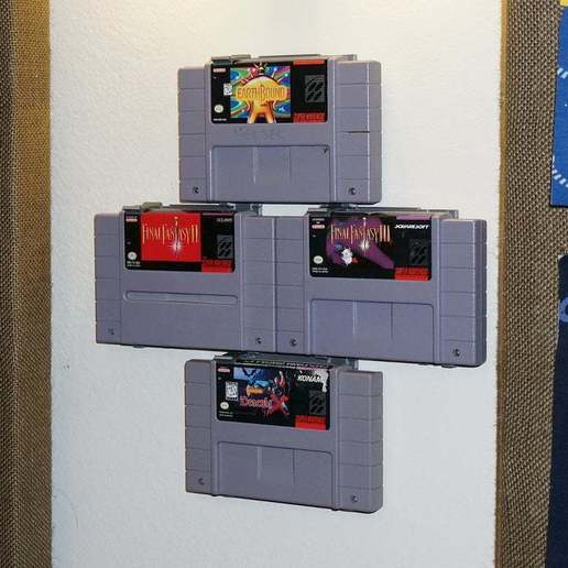 DSC03986.JPG Download free STL file Modular SNES Game Wall Hangers (Super Nintendo) UPDATED 2015-08-24 • 3D printing object, tonyyoungblood