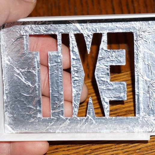 DSC02321.JPG Download free STL file Tiny Exit Sign with LED Light • 3D printing template, tonyyoungblood