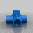 6WayCross.png Download free STL file 5-Way Cross & 6-Way Cross, 1/2 Inch PVC Pipe Fitting Series #HalfInchPVCFittings UPDATE 2015-07-03 • 3D printing template, tonyyoungblood