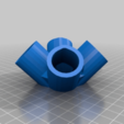 4WayPyramidTop.png Download free STL file Pyramid Elbows & Topper, 1/2 Inch PVC Pipe Fitting Series #HalfInchPVCFittings • 3D printing model, tonyyoungblood