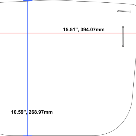DIMENSIONS1.png Download free STL file Cricut DIY Face Shield - Uses Binder Covers • 3D printable model, tonyyoungblood