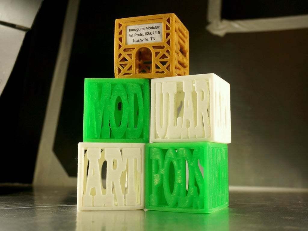 "DSC02456Small.JPG Download free STL file Modular Art Pods ""The Poddys"" Award / Trophy #modularartpods • Design to 3D print, tonyyoungblood"