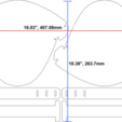 DIMENSIONS2.png Download free STL file Cricut DIY Face Shield - Uses Binder Covers • 3D printable model, tonyyoungblood