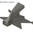 4cmBiasTape_Q3_fold_U_wings.png Download free STL file 3cm / 3.5cm / 4cm / 5cm Simple Bias Tape Maker, zakladac pasku • 3D printable template, ongaroo