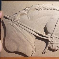 Descargar diseños 3D gratis medalla busto de caballo cnc art, lanius