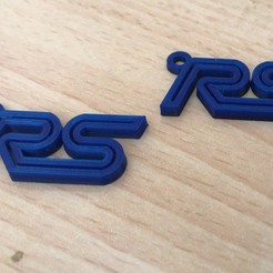 Download free STL file Focus RS key ring • Template to 3D print, dansdr